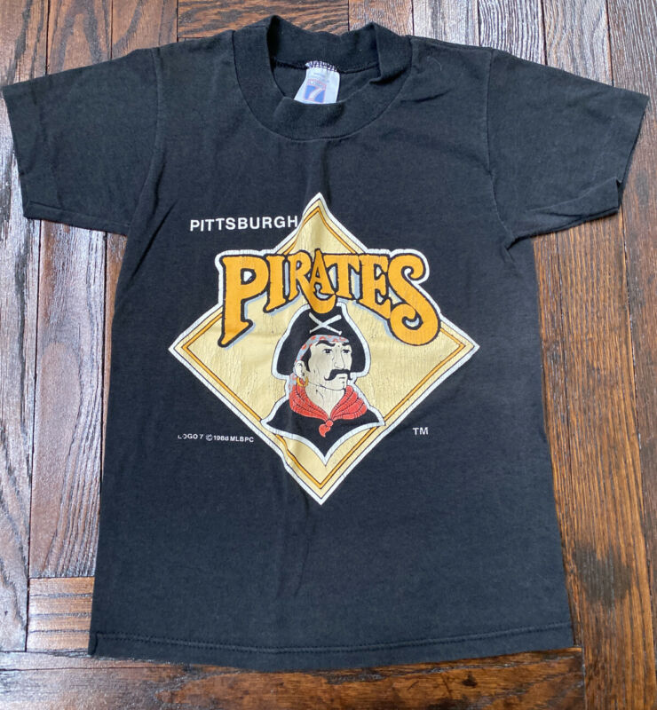 Vintage 80s Kids Pittsburgh Pirates Baseball T Shirt 50/50 Single Stitch USA S