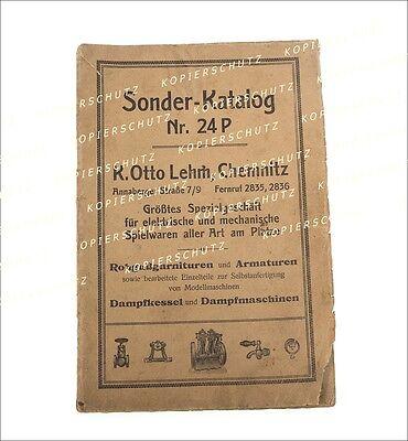 orig. DAMPFMASCHINEN Spielzeug Reklame Sonderkatalog Nr. 24P K. Lehm, um 1910-20