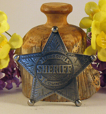 """Historic Badges """"Lincoln County Sheriff"""""""