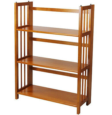 Casual Home 3 Tier Folding Stackable Bookcase 27.5
