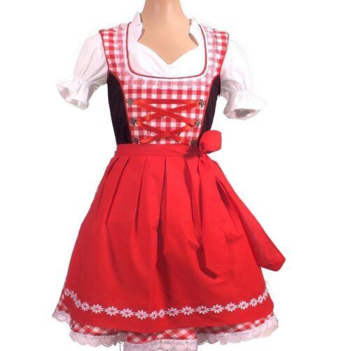 Girls,Kids,US size 8.Germany,German,Trachten,Oktoberfest,Dirndl,3-pc.Red/Black