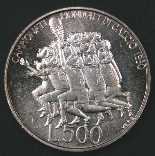San Marino 1990 500 Lire - World Cup Soccer - BU