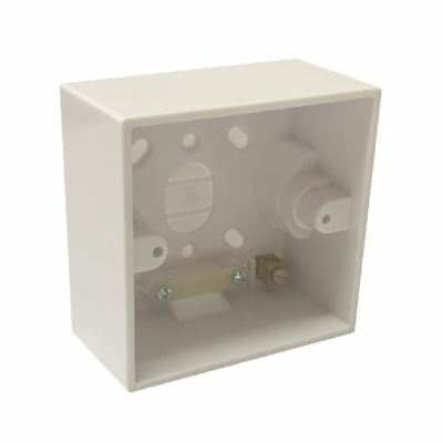 Surface Mounted 41mm Deep Back Box Single Pattress for Shower & Cooker Switches Surface Mounted Box