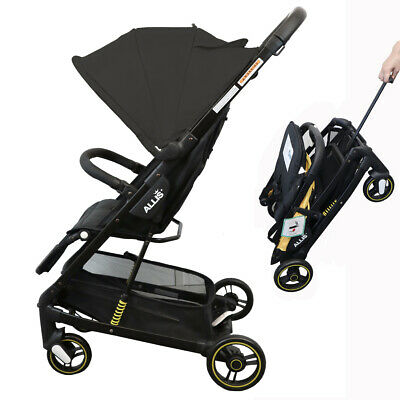 Allis Speedy Stroller Baby Pram Travel Pushchair Lightweight - Black