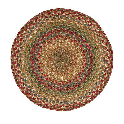 Red Round Placemats (Homespice AZALEA Braided Jute 15