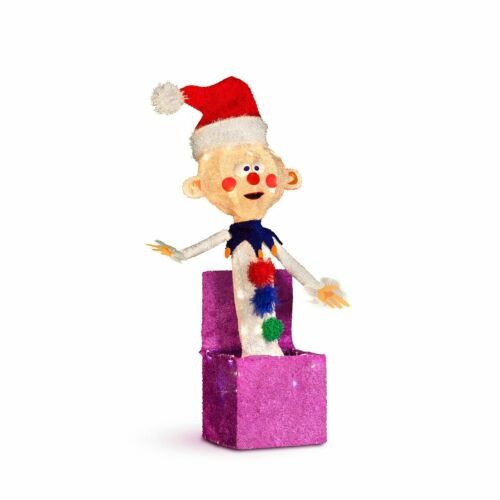 """Rudolph Charlie in the Box Misfit 24"""" 3-D Outdoor Christmas Decor Yard Art"""