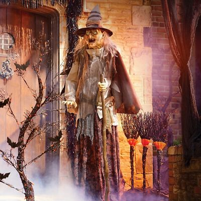 6 Ft Lunging Haggard Witch Animatronic Halloween Decoration Haunted House - Animatronic Halloween Props
