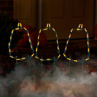PUMPKIN OUTLINE PATH LIGHTS OUTDOOR HALLOWEEN DECORATION JACK O - Halloween Outdoor Lanterns