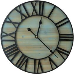 "Large Decorative Wall Clock, 16"" Round Centurion Roman Numeral Hands"