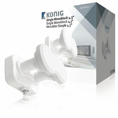 Individual Monobloque LNB Doble Sintonizador Lmb 4.3° Grado HD 0.2dB 19.2 23.5