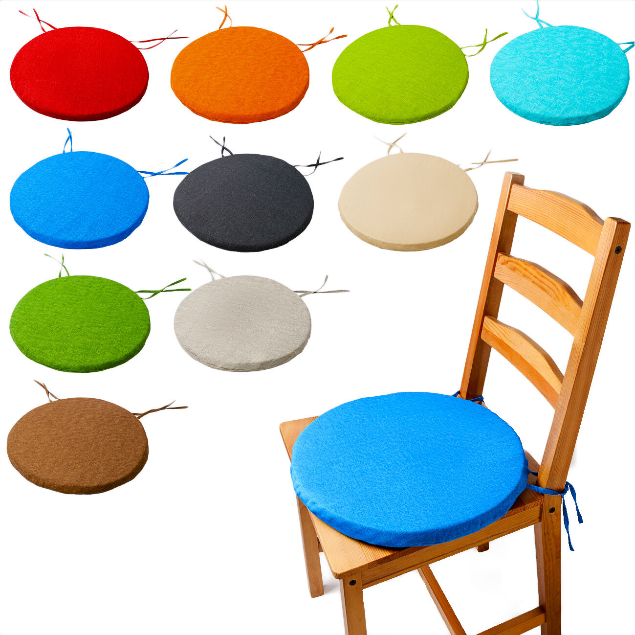 Picture of: 30cm Round Circular Chair Cushion Seat Pads Removable Cover Bistro Office Home For Sale Ebay
