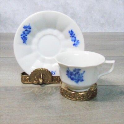 Royal Copenhagen DEMITASSE COFFEE TEA CUP & SAUCER SET 10 Fluted 8562 Blue White