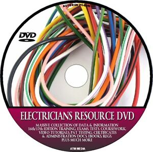 ELECTRICIANS RESOURCE PC DVD 17th EDITION PAT TRAINING C&G EXAM CERTIFICATES NEW