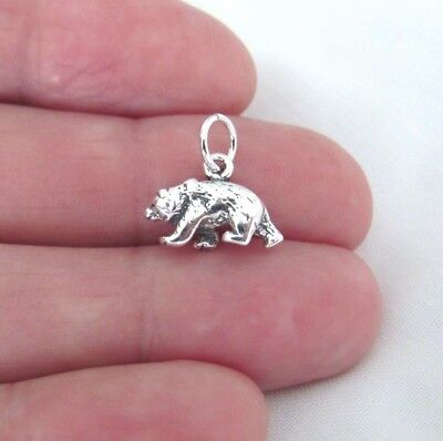 Sterling Silver 3d Bear small charm