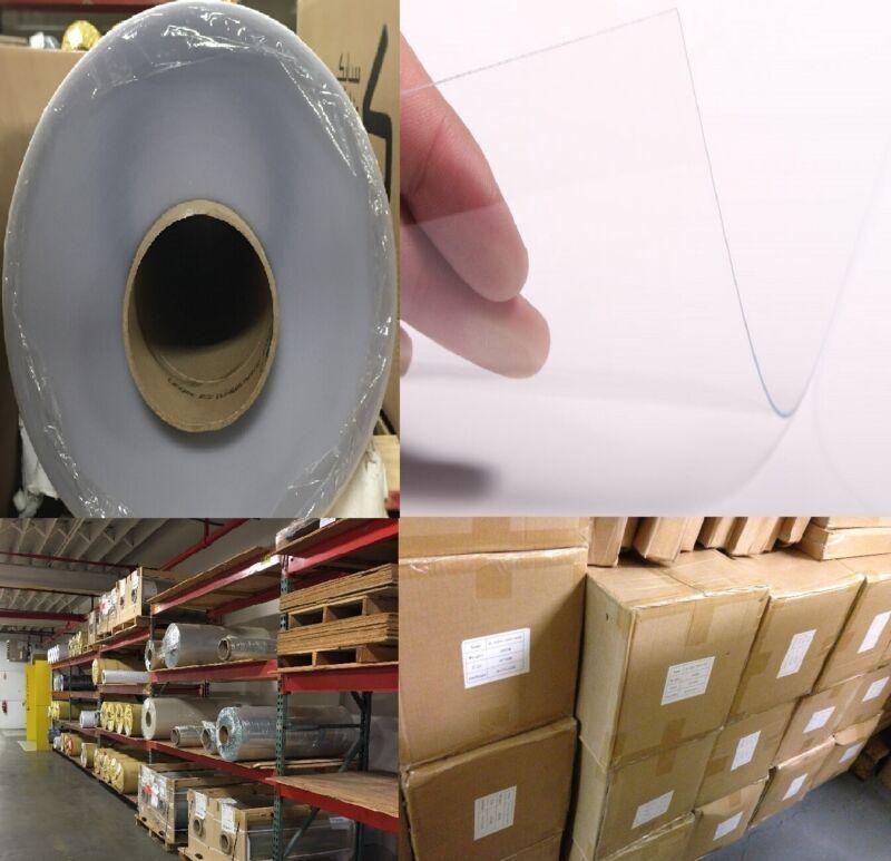 "Scratch-Resistant Clear Textured Vinyl PVC Roll 52"" x 150"