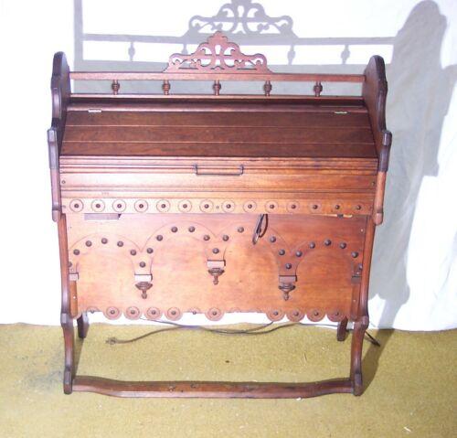 Walnut Chapel Reed Organ George Woods & Co Boston 1800s Electrified