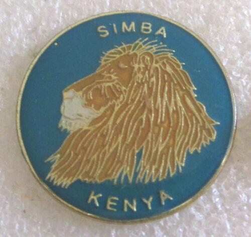 Simba, Kenya - Africa Village Tourist Travel Souvenir Collector Pin Lion Safari