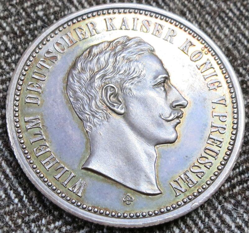 1888 Germany Prussia Wilhelm Uncirculated Proof Silver Medal  Marienburg - 6848