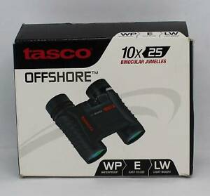 Tasco 10x25 Waterproof Binoculars with Box (p210305-1) Deception Bay Caboolture Area Preview
