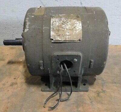 3hp General Electric 5k213ag201 Motor 213 1750 Rpm 60hz