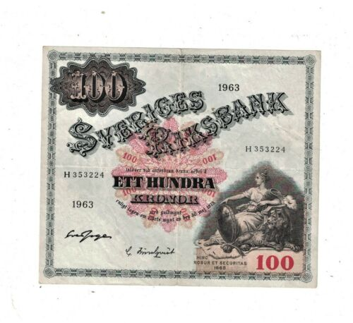 Sweden 1963 100 Kronor PB1