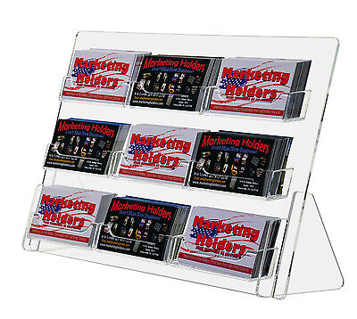 Clear Plastic Business Card Display 9-pocket Holders