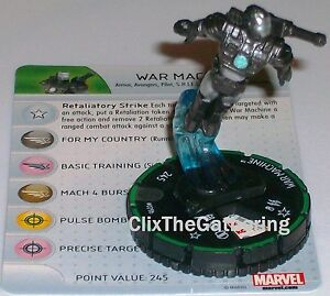 WAR MACHINE #029B #29B The Invincible Iron Man Marvel Heroclix Rare Prime