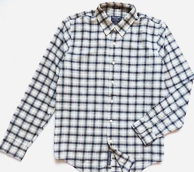 Abercrombie & Fitch Hombre Músculos Manga Larga Cuadros Camisa Talla: EG