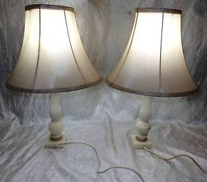 Pair of Vintage Retro Marble Table Bedside Lamps WORKING South Windsor Hawkesbury Area Preview