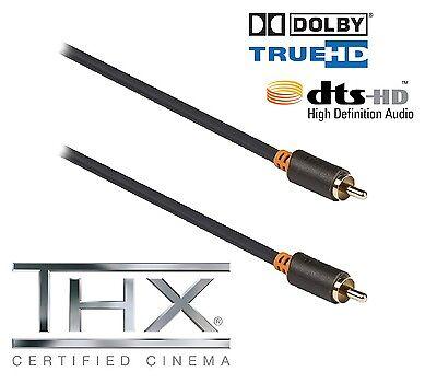Cable Coaxial Digital 1M Metro Rca Cinch Spdif Alta Gama 75 Ohm