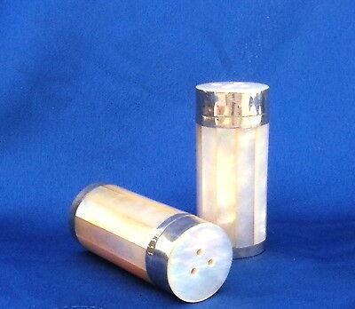 Salz- und Pfefferstreuer aus echtem Perlmutt, strahlend weiß, edel, besonders