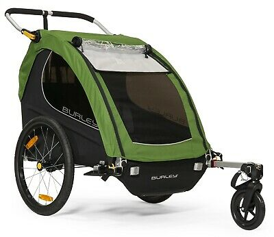 Burley Encore Kids Bike Bicycle Trailer Double Stroller Treetop Green NEW 2019