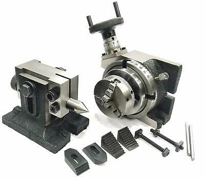 Hv 4rotary Table M6 Clamp Kit Tailstock T-nuts With 65 Mm 3 Jaw Self Chuck