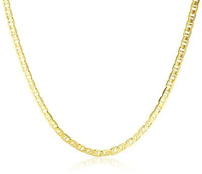 SOLID 14K Yellow Gold Necklace Mariner Chain Men's Women's 2 MM, 16 to 24 Inch