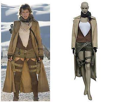 Resident Evil Extinction Alice Cosplay Costume Halloween Jacket Shirt Pants#A210