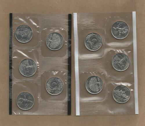 1999-P&D Statehood Quarters 10 Coins In Mint Cello FREE SHIPPING !!!