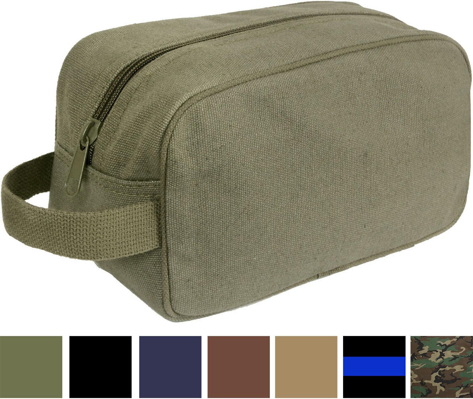 Tactical Travel Toiletry Bag Zipper Canvas Case Compact Orga