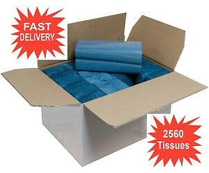 C Fold Paper Hand Towels Tissue Blue Qty 2560 (16 packs) 1 Ply Size 220x305mm