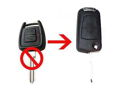 Vauxhall Opel Astra Vectra Zafira 2 Button CONVERSION Flip Remote Key Fob Case