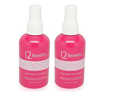 12 Benefits Instant Healthy Hair Treatment 6 oz Pack of 2