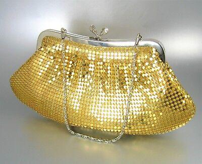 Metal Mesh Chainmail Clutch Bag Bridal Handbag Evening Prom (Mesh Clutch)