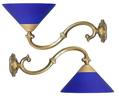 2 Pieces Original Art Nouveau Wall Lamp Shabby Chic Brass Wall Lamp um 1920