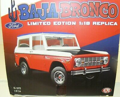 1:18 1971 FORD BAJA BRONCO STROPPE LTD ED 714 PCS  BY GREENLIGHT FOR ACME