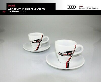 Audi Espressotassen-Set Heritage 3291800400 Kahla Porzellan Kaffee weiß