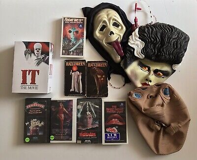 Halloween Horror Movie Mask Figure Book Lot Michael Myers