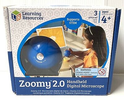 Learning Resources Zoomy 2.0 Digital Handheld Microscope Complete In Box Great