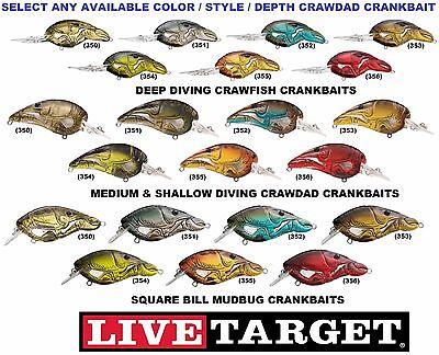 Koppers Live Target Crankbait Crawfish Deep Medium Shallow Square Bill Any Color