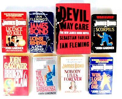 JOHN GARDNER Lot of 8 Books JAMES BOND (007) Espionage, Spy