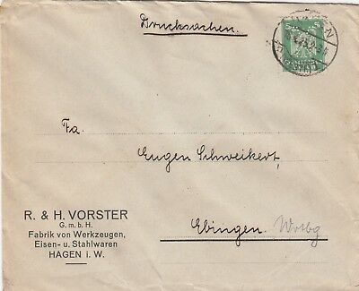 HAGEN, Briefumschlag 1925, R. H. Vorster GmbH Werkzeug-Fabrik Eisen-Stahlwaren