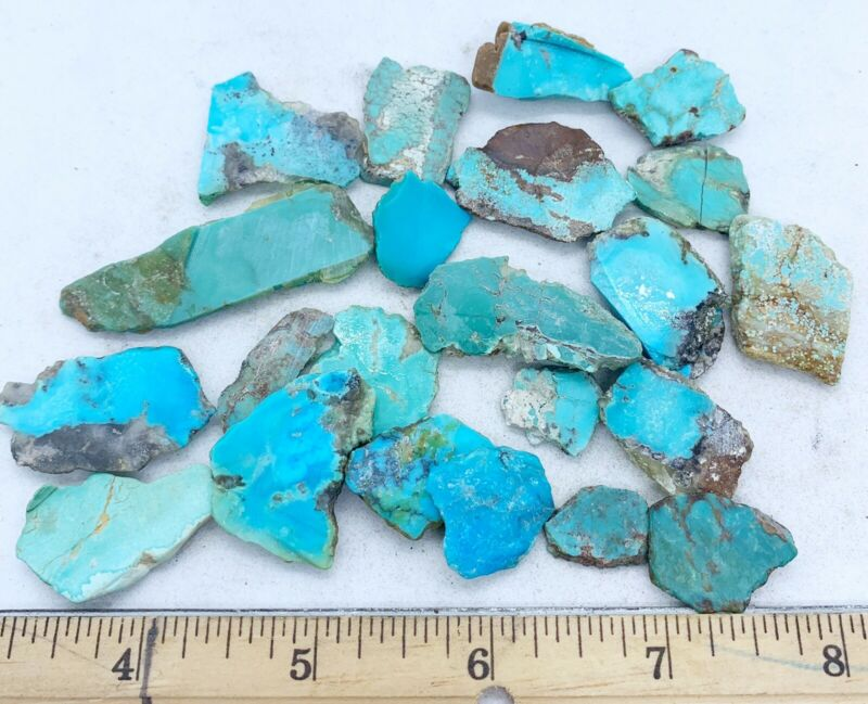 American Turquoise Mixed Slabs Rare Rough 25-3